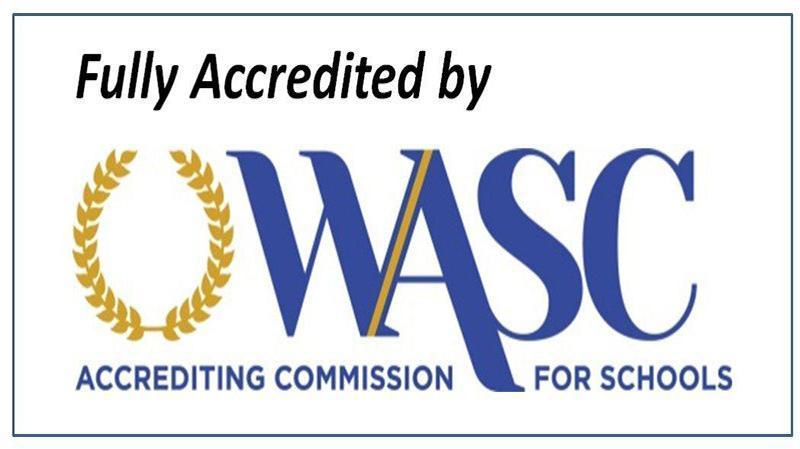 Fully Accredited by (or) Accredited by the Accrediting Commission for Schools, Western Association of Schools and Colleges