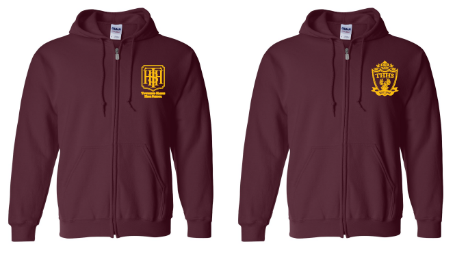 Maroon zipper hoodies