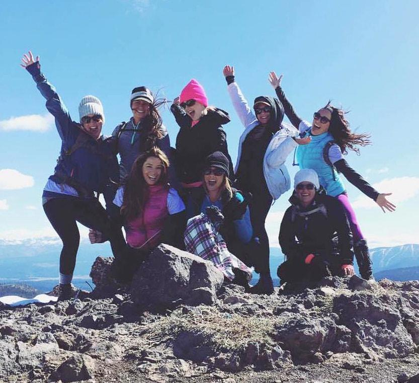 Group of Moms on the Moms on the Mountain Hike