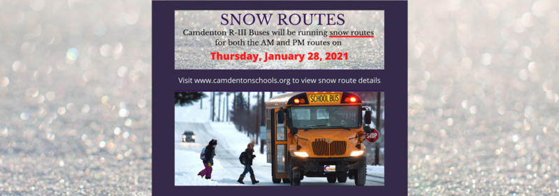 Snow Routes - Thursday January 28, 2021 Featured Photo
