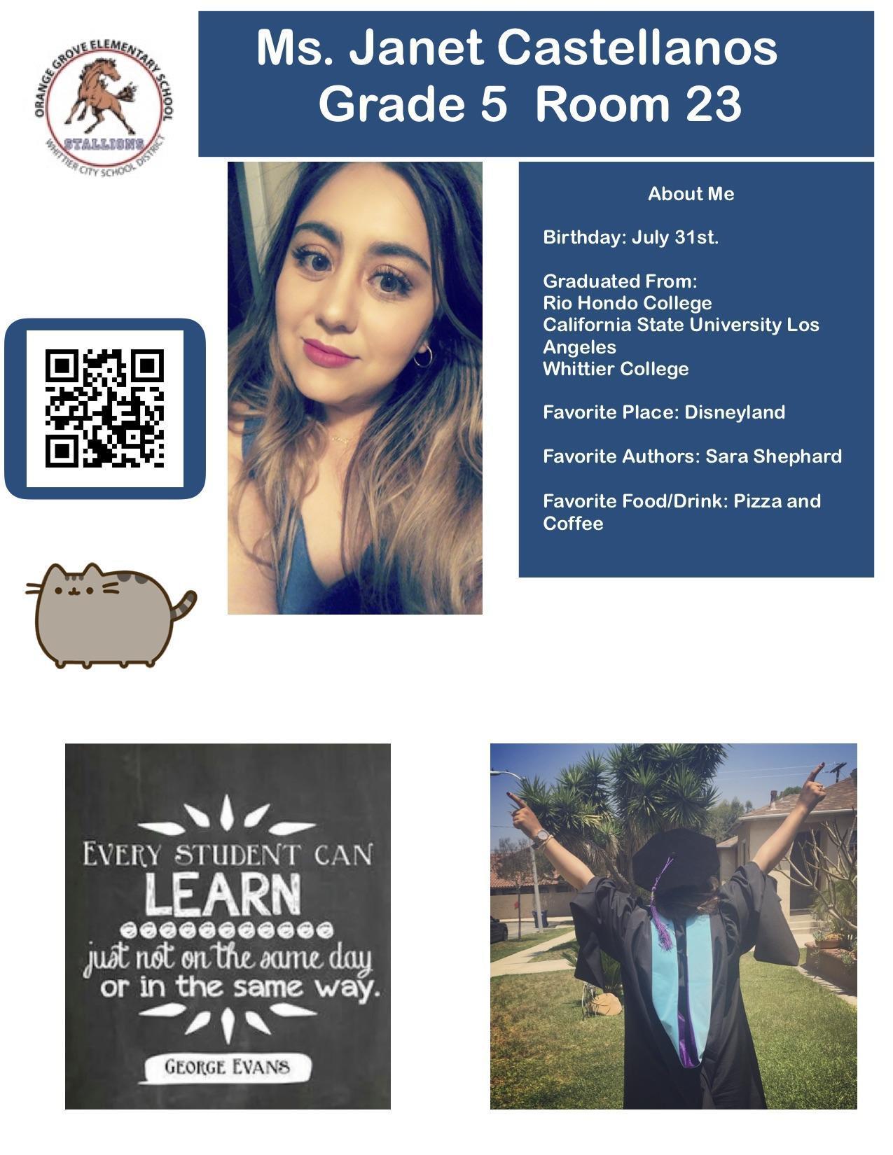 staff flyer for Miss Castellanos