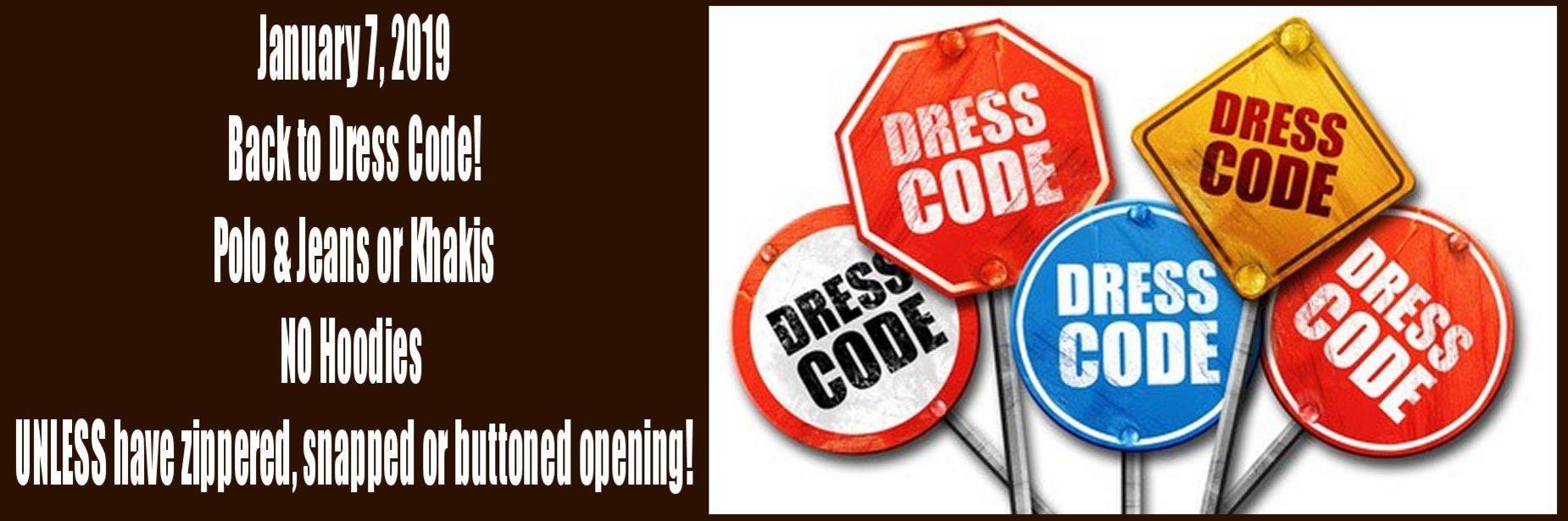 Dress Code Back at New Year