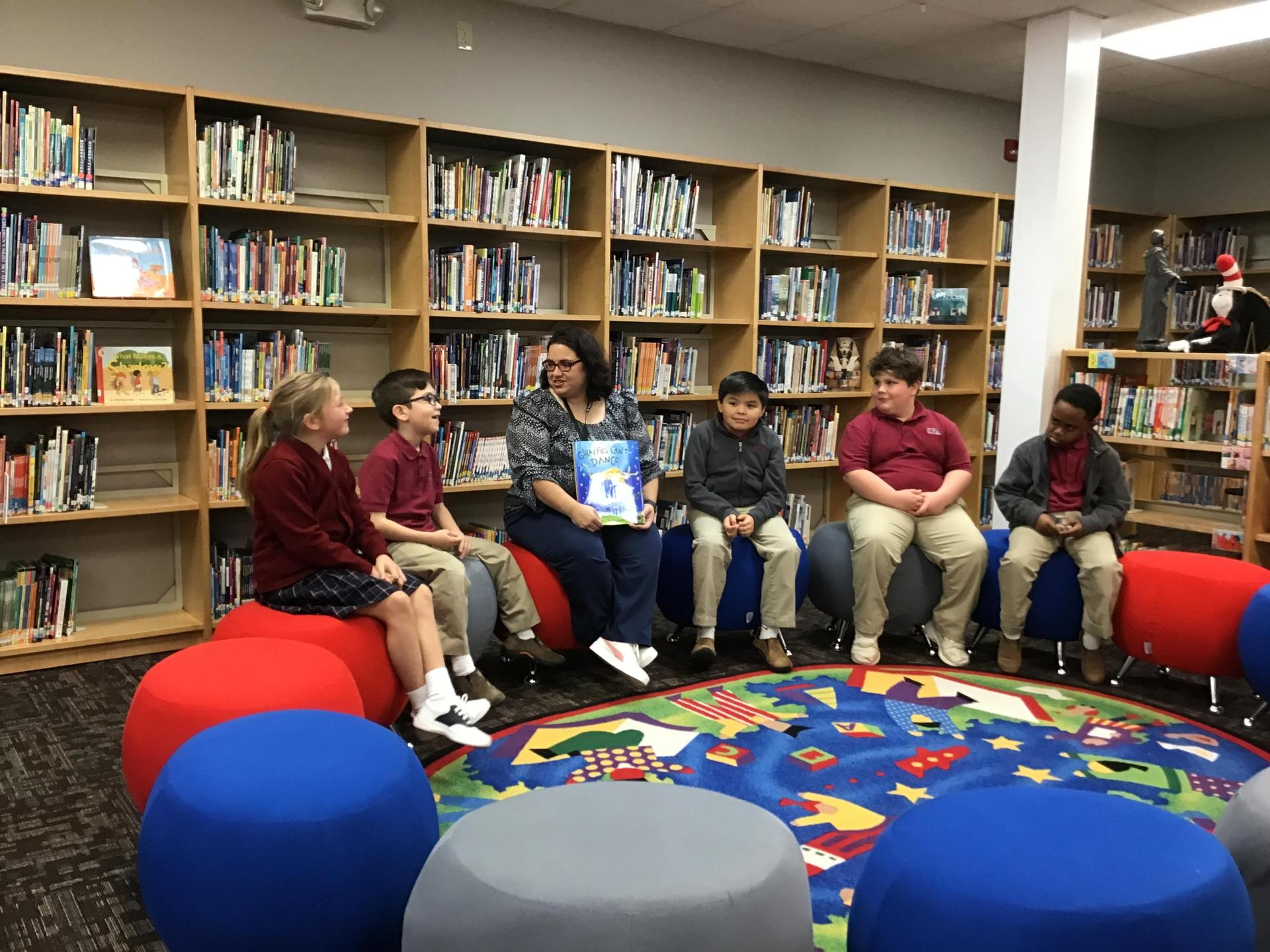 Reading in Library