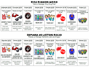 red ribbon week activities semana de liston rojo actividades
