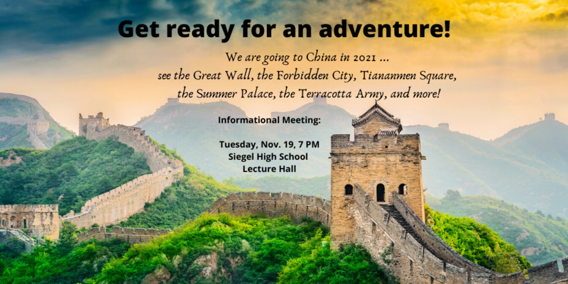 China Trip info meeting