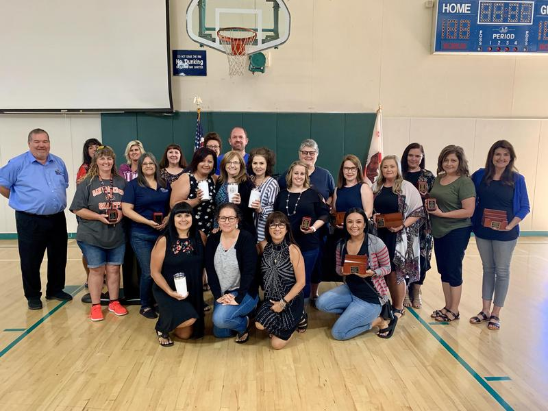 TEACHERS RECOGNIZED FOR THEIR YEARS OF SERVICE