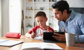 At-home learning with parent help