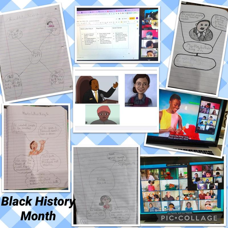 Black history month assignment collage
