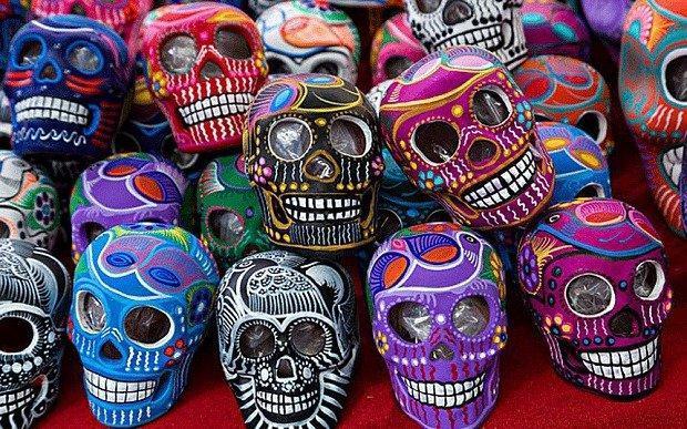 day of dead skulls
