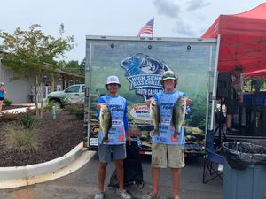Airport High fIshing duo Jacob White, left, and Tanner Schultz will compete at the National Championship.