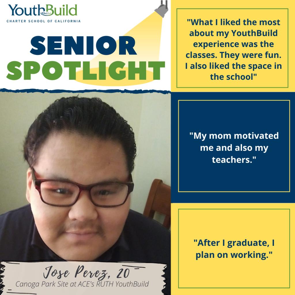 Senior Spotlight for graduate Jose Perez