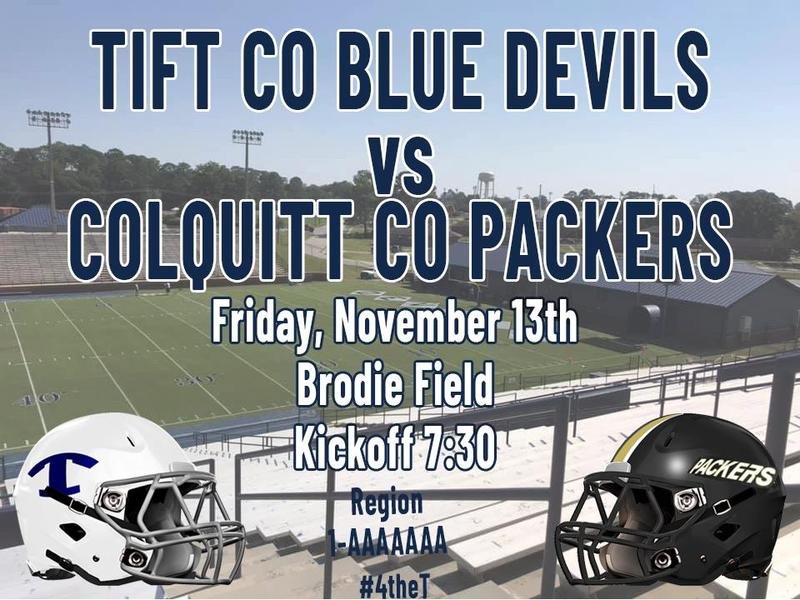 Blue Devil Football: Tift County vs Colquitt County Featured Photo
