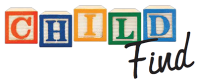 CHILD spelled out in blocks