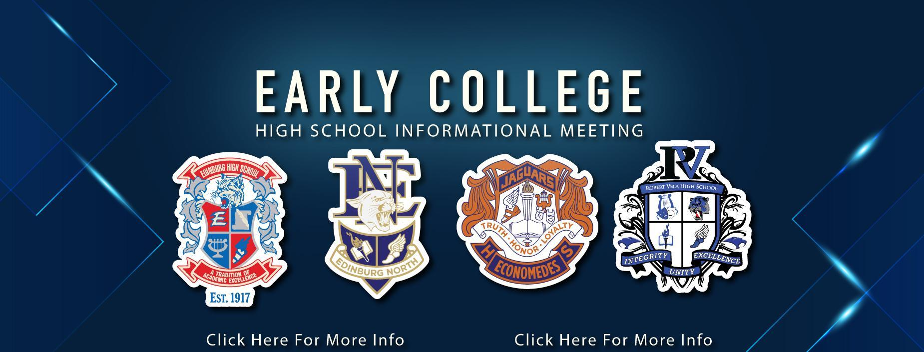 early college high school informational meeting.  click for more information.