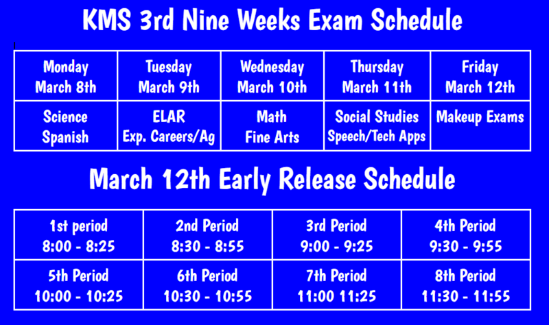 3rd Nine Week Exam Information Featured Photo