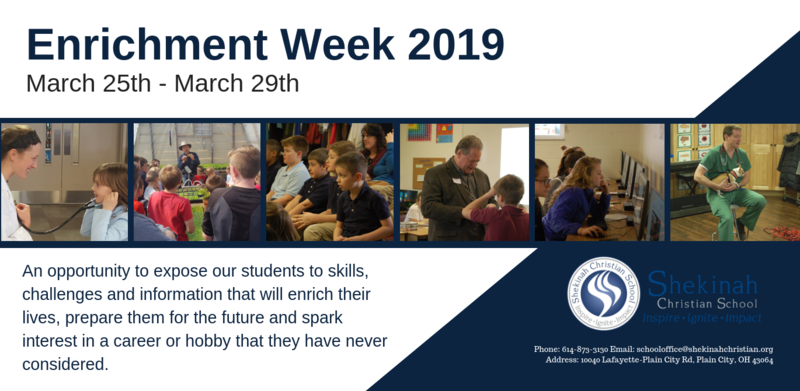 Enrichment Week 2019 | March 25th - March 29th Thumbnail Image