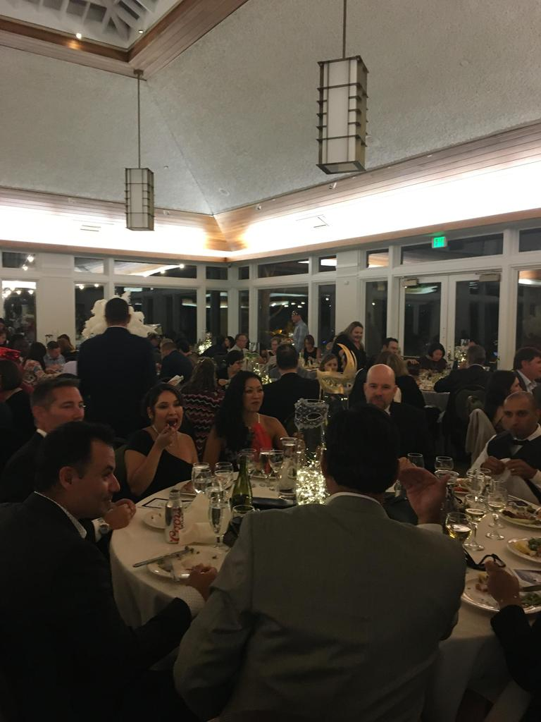 guests of gala at table