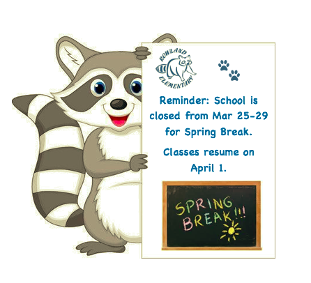 School will be closed for Spring Break Featured Photo
