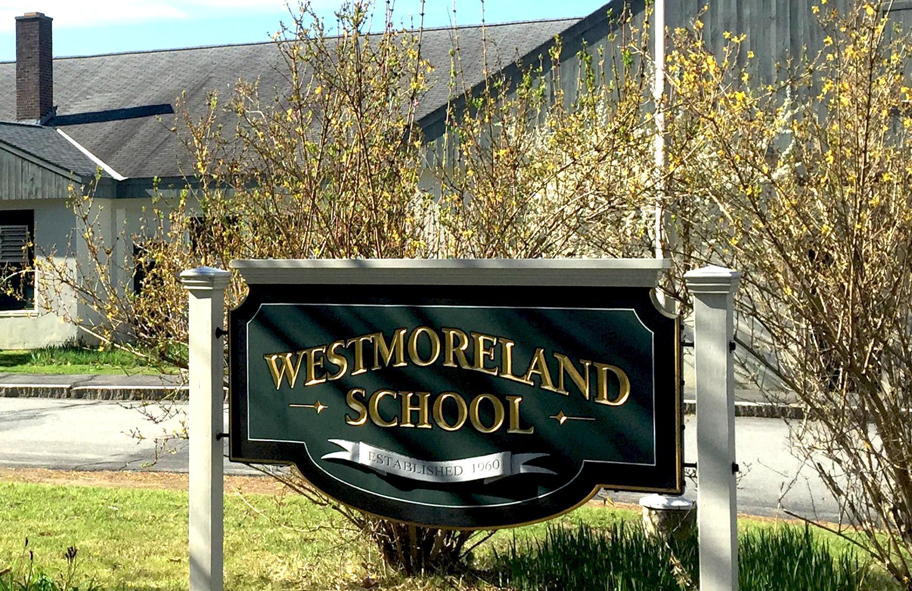 Westmoreland School Sign