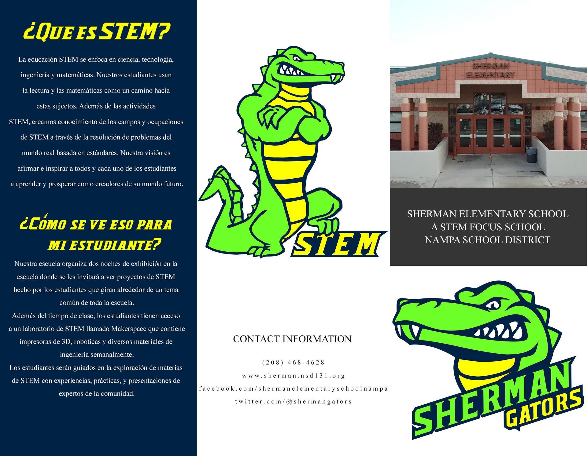 Sherman STEM Information - Spanish