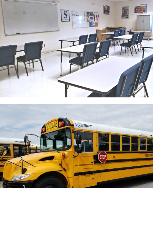 picture of classroom and bus