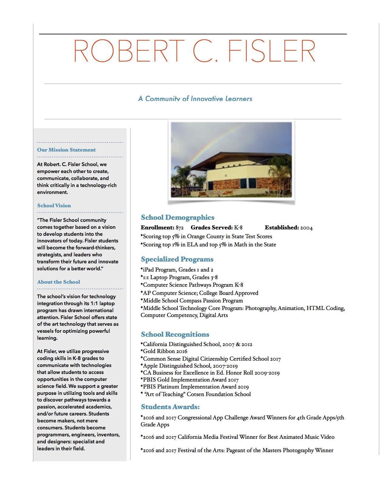 Fisler School Spotlight Newsletter