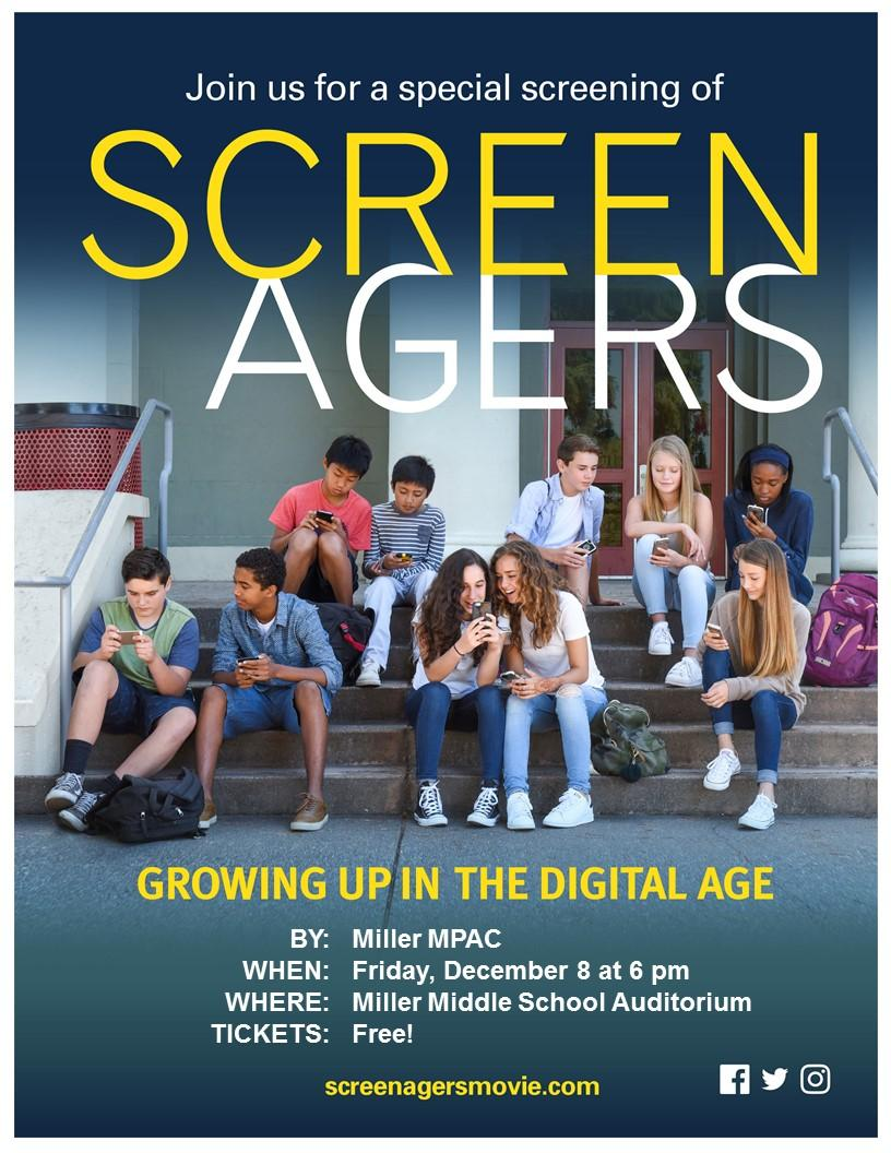 Screenagers playing at Miller December 8th