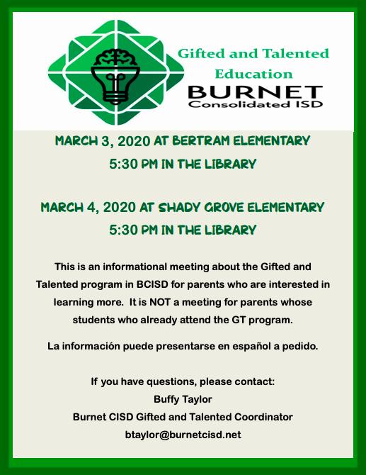 GT Parent Information Night - 3/2/2020 Thumbnail Image