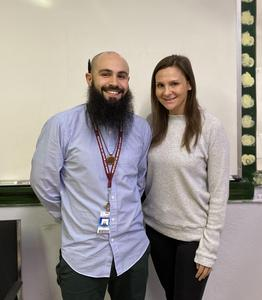 Teacher of the Year Conrad Ferrer and ESp Jocyln Goldstein