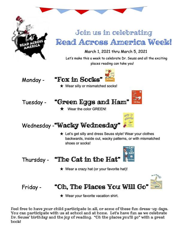 Read Across America Week March 1st - March 5th Featured Photo