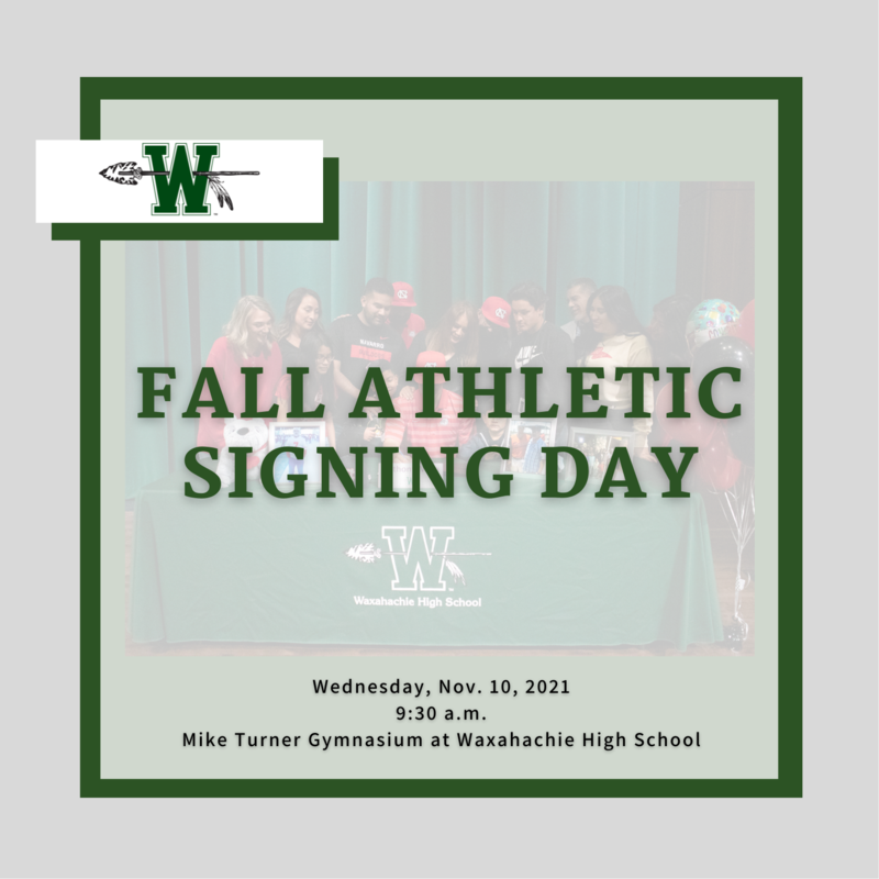 graphic reads fall athletic signing day