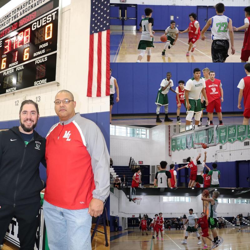 Maspeth High School & Martin Luther's Basketball Teams' Pre-season Scrimmage Featured Photo