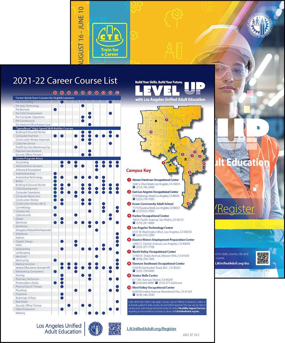 Career Technical Education Flyer - Program Area - Cover 01