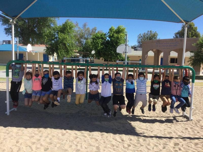 Mrs. Strahm's 1st Grade class HUNG IN THERE and made it through the year! Thumbnail Image