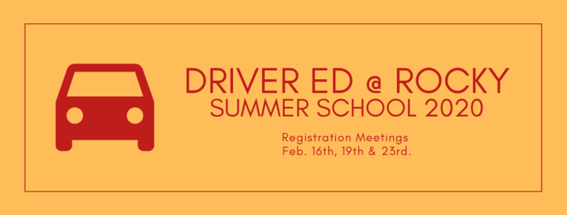 Driver Ed Summer School 2020 Featured Photo