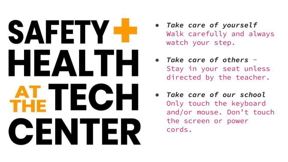 Safety and Health in the Tech Center