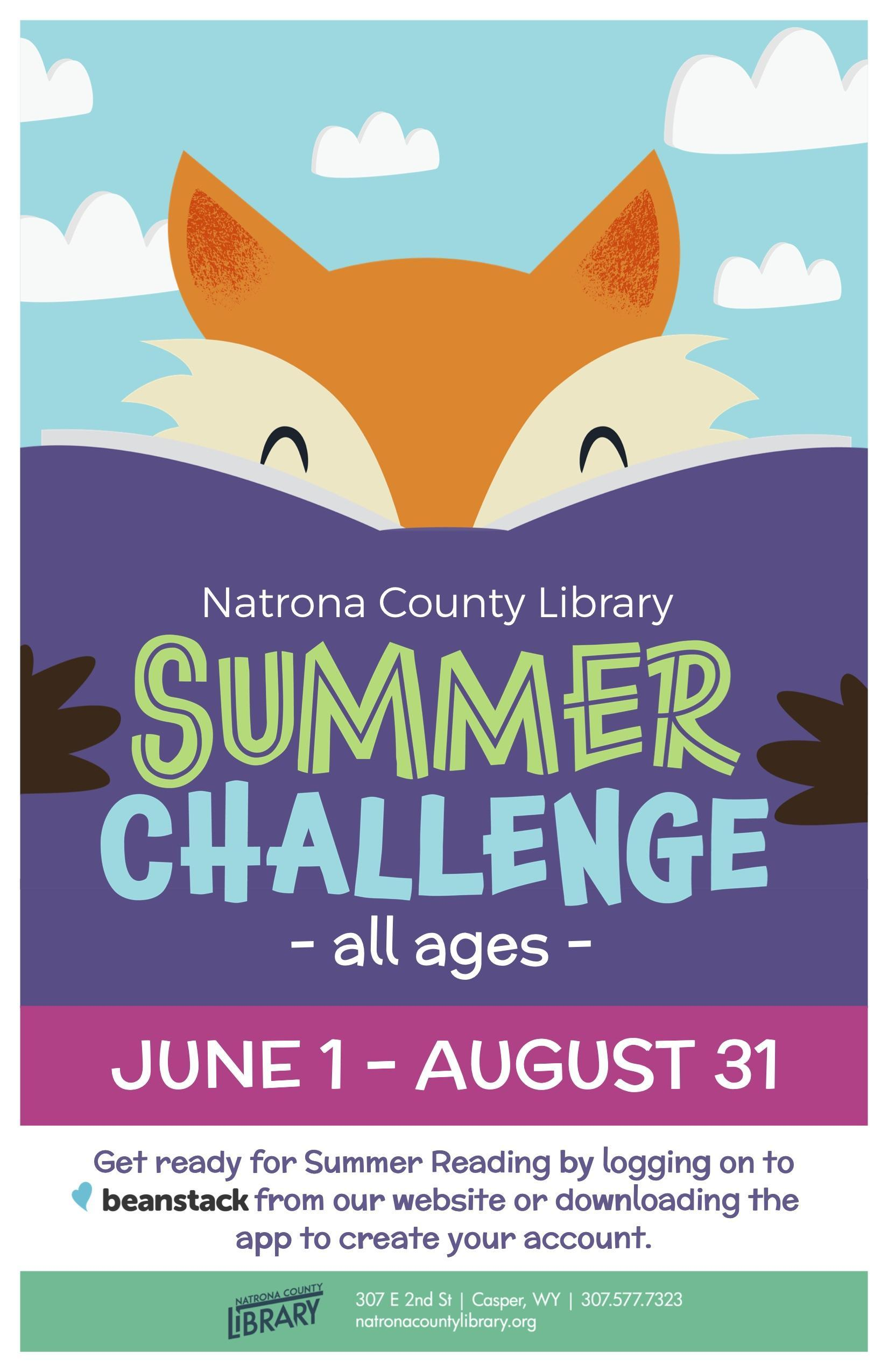 Natrona County Library summer reading program flyer