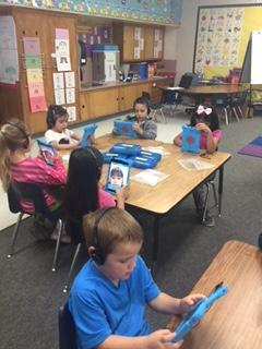 Students using ipads
