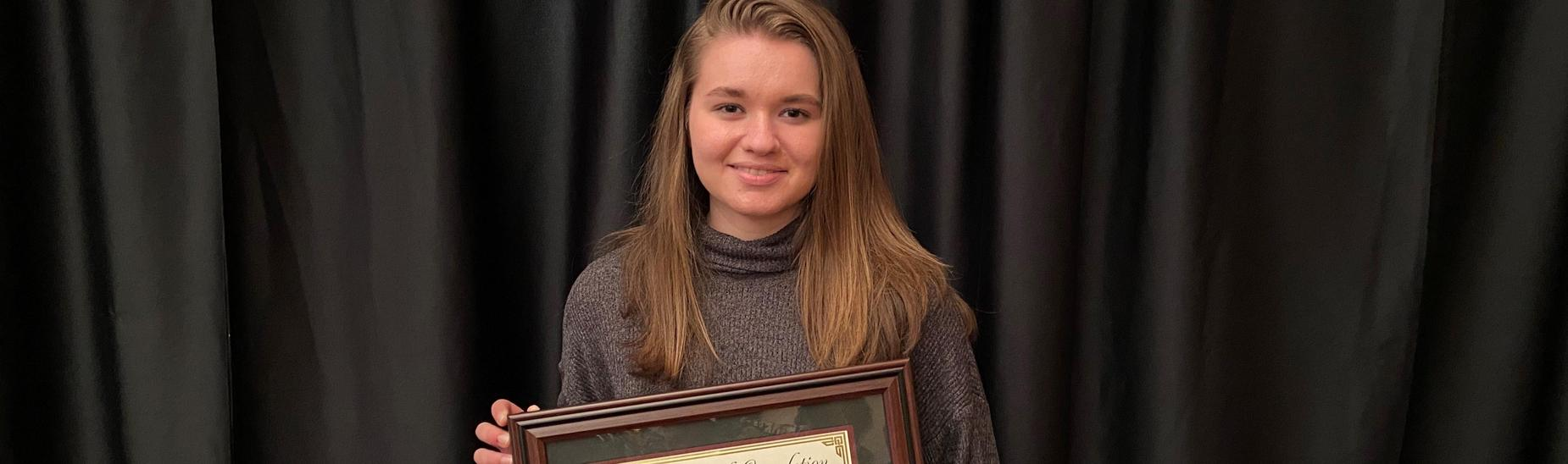 Kiersten Biddle, CHS Junior, completed the Blair County Chamber of Commerce  YEA (young entrepreneurs academy) Program