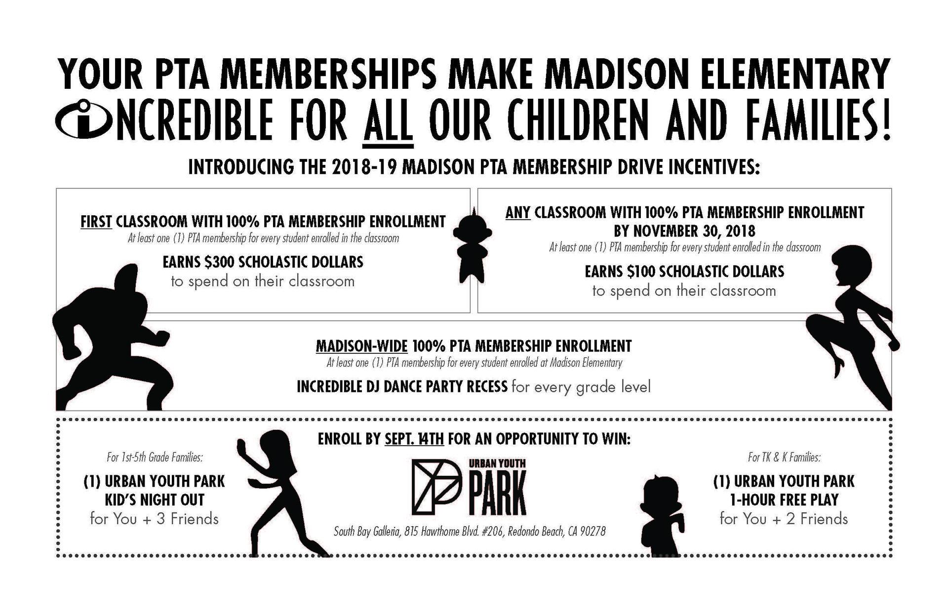2018-19 PTA Membership Incentives