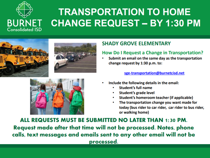 Please Read: NEW Changes in Transportation and requests Thumbnail Image