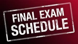 finals schedule