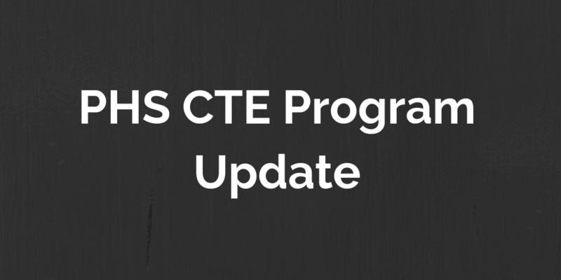 PHS CTE Program Updates Thumbnail Image