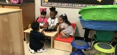students in centers