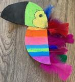Colorful student toucan artwork