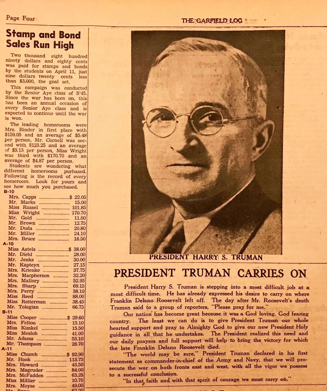Truman President