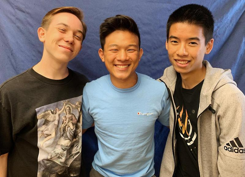 Three Gabrielino High students pose for the camera.