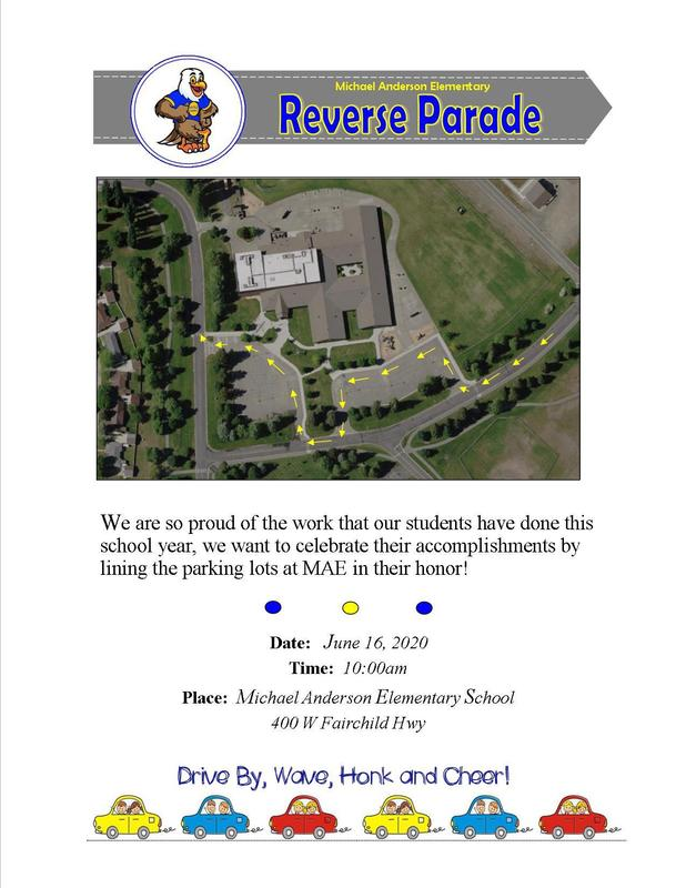 MAE is excited to announce that on Tuesday, June 16th  we will have a Reverse Parade! Thumbnail Image
