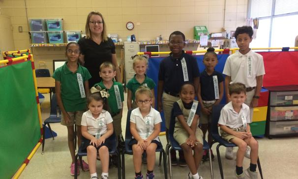 East Elementary - September Students of the Month
