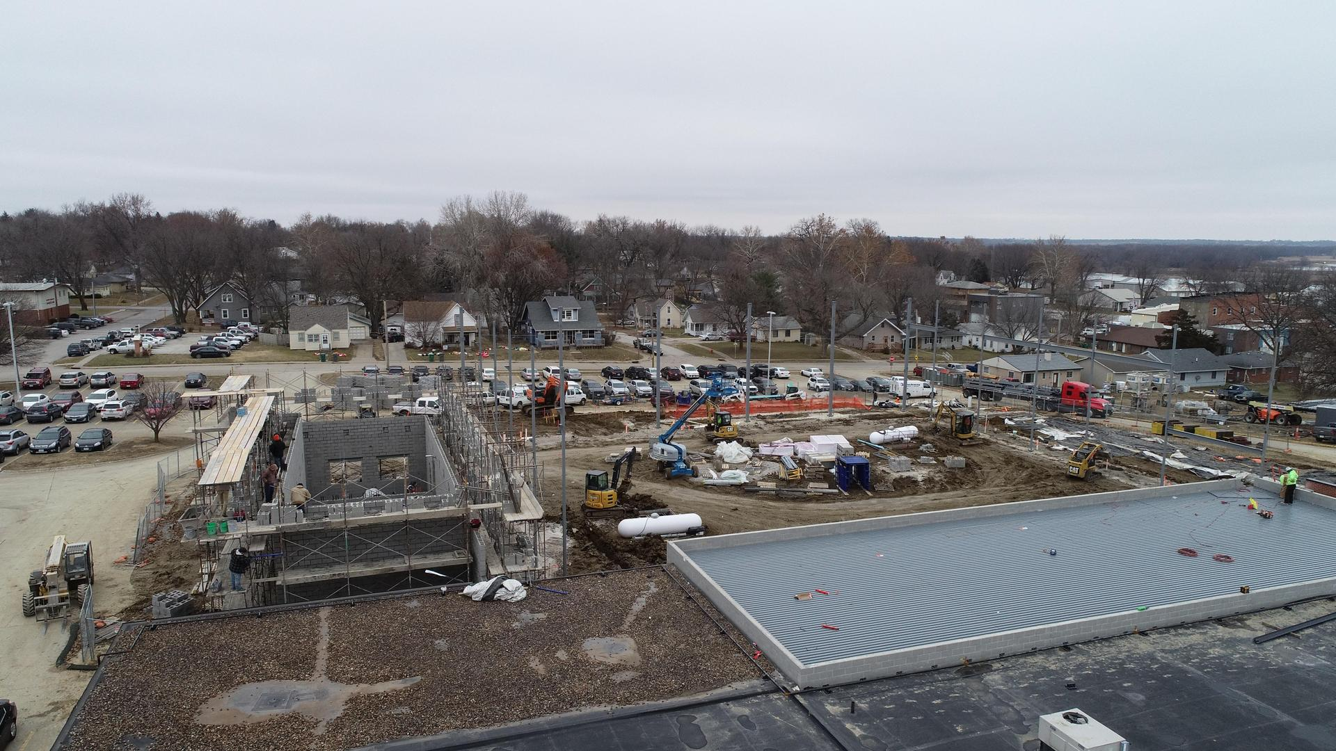 Drone Picture of IAC construction 12-21-18